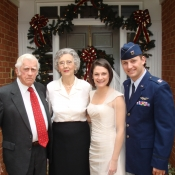 Nick and his wife, Ashley Whitlock, with Nick's grandparents.
