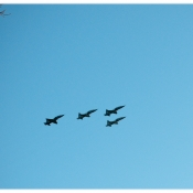 The flyover done above Nick's grave site on the day of his funeral.