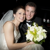 Nick and his wife, Ashley Oddi Whitlock, on their wedding day.