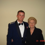 Nick and his grandmother.
